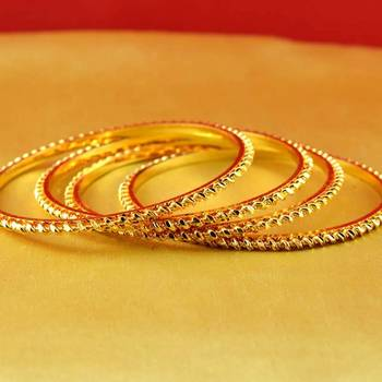 gold platted  bangles muti coulor  size-2.8