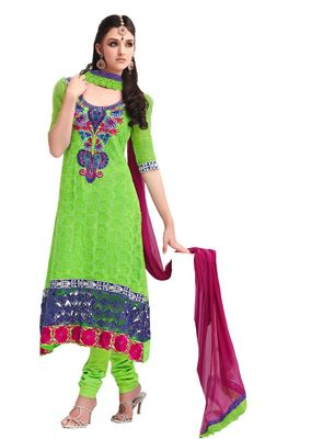 Party Wear Dress Material peacock3305
