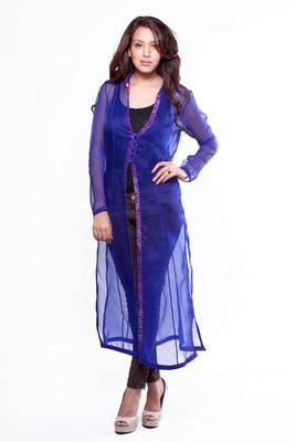 Ethnic Sheer Silk Jacket