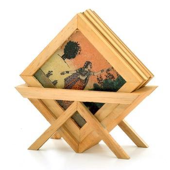 Precious Gemstone Painting Tea Coaster Set