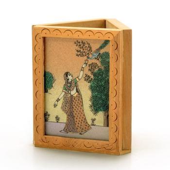 Beautiful Gemstone Painting Pen Stand Gift