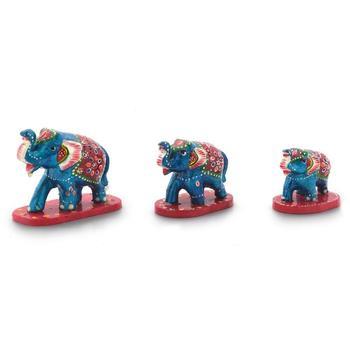 Paper Mache 3 Piece Elephant Home Decor Gift