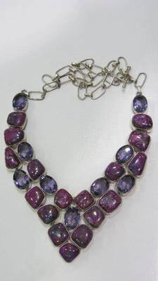 Amethyst and Purple turquoise necklace