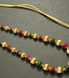GORGEOUS GOLD TONE RUBY EMERALD GOLDEN BALL NECKLACE shop online