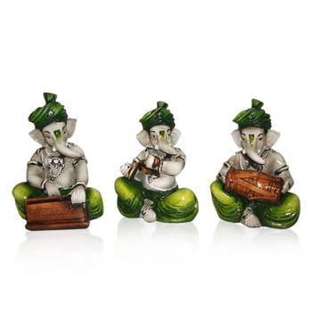 Diwali coroporates gifts Set of 3 Instrumental Ganesha