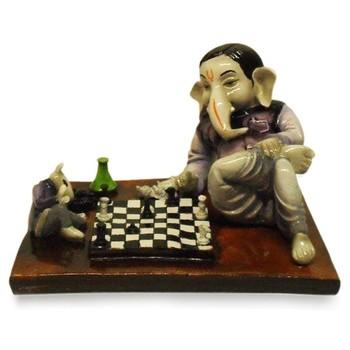 Ganesha Playing Chess