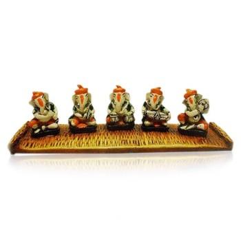 Set of 5 Ganesha on Chatai