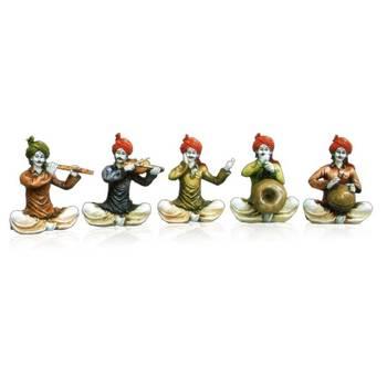 Set of 5 Rajasthani Musician Men