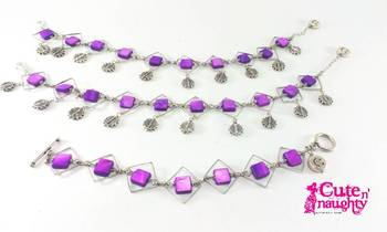 Purple squares 'r fun Bracelet and Anklet