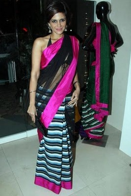 Mandira Badi Replica Saree with Blouse