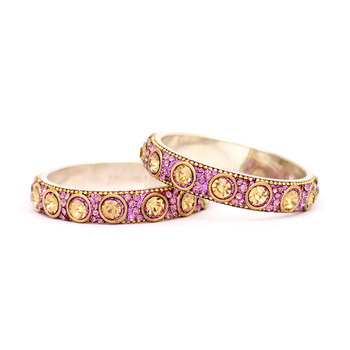 Ethnic kundan Purple Crystal Bangles Ethnic kundan Purple Crystal Bangles