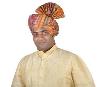 Panchrangi Lehariya Print Kolhapuri Pheta Turban
