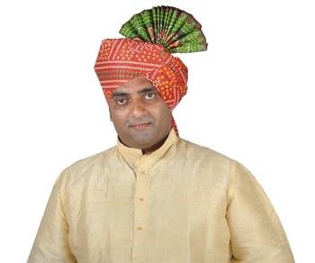 Bandhani Pallu Kolhapuri Pheta Turban