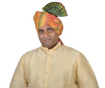 Panchrangi Lehariya Pallu Polyester Kolhapuri Pheta Turban