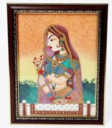 Buy Waiting Princess Bani Thani Gemstone Painting painting online