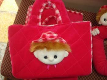 bag with basket inside for kids