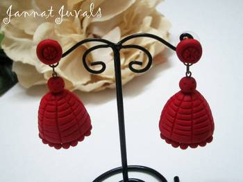 Gorgeous Red Jhumka