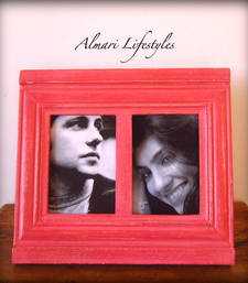 Buy Designer Frames: Handmade Distressed Effect Wooden Handcrafted Picture Frame photo-frame online