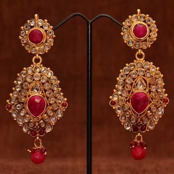Anvi's designer ear hangings(Jodhaa style)