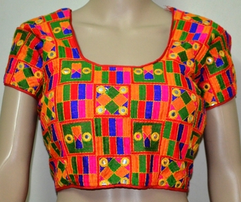 a3de657f80a1c Multicolour kutch Embroidery Blouse - ETHNICLE - 588939