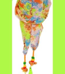 Buy Designer Candy Neon Green Birdie Scarf stole-and-dupatta online