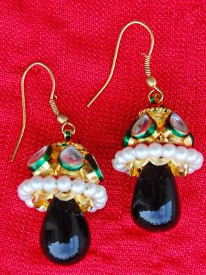 Maroon Green Smart Jhumkis