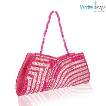 Vendee Lifestyle Pink Clutch Handbag (7329)