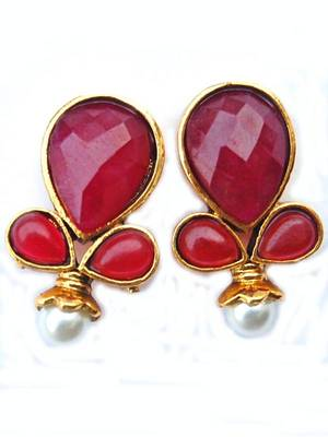 Maroon Golden Smart Studs