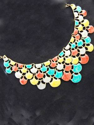 Multicolored Neckpiece from Maayra