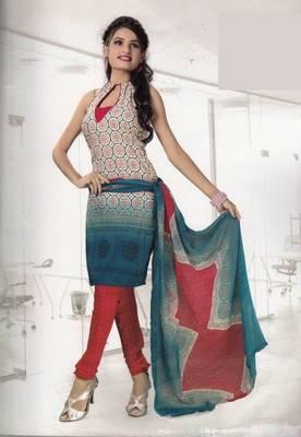 Crepe dress material elegant designer unstitched salwar suit d.no 4306