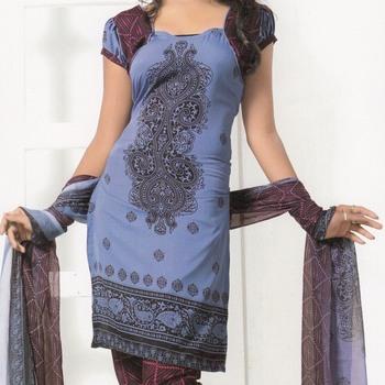 Crepe dress material elegant designer unstitched salwar suit d.no 7271