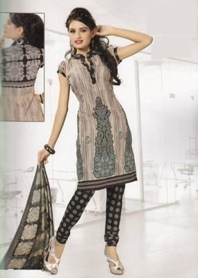 Crepe dress material elegant designer unstitched salwar suit d.no 4316