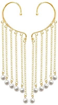 DIVINIQUE Gold Plated Golden Ear  Cuffs for Women