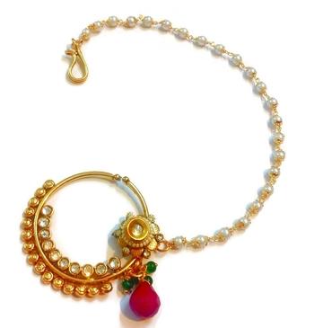 Buy India bridal wear polki bridal nose ring line