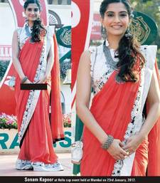 Buy Sonam Kapoor In pretty border saree viscose-saree online