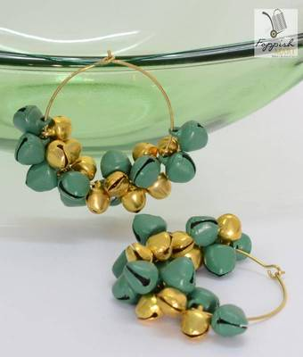Green-Golden Zingalala bells- Hoops