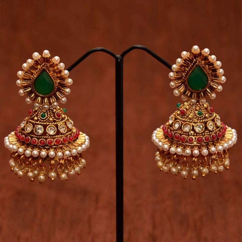 Indian earrings jhumka gold