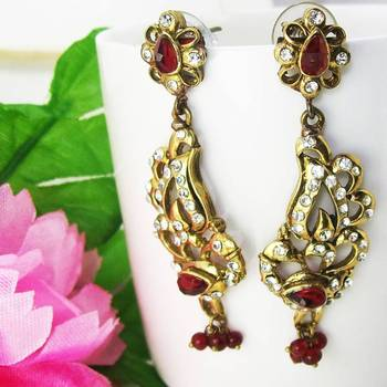 Victorian Flat Dangler Tingy Red