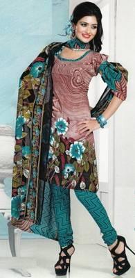 Dress Material Crepe Designer Prints Unstitched Salwar Kameez Suit D.No AP701