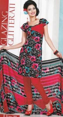 Dress Material Crepe Designer Prints Unstitched Salwar Kameez Suit D.No AP704