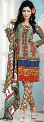Dress Material Crepe Designer Prints Unstitched Salwar Kameez Suit D.No AP706