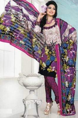 Dress Material Crepe Designer Prints Unstitched Salwar Kameez Suit D.No AP711