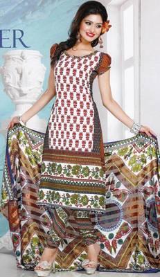 Dress Material Crepe Designer Prints Unstitched Salwar Kameez Suit D.No AP714