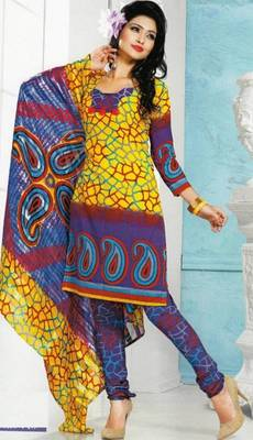 Dress Material Crepe Designer Prints Unstitched Salwar Kameez Suit D.No AP715