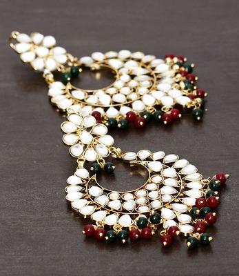 Beads and Kundan Embellished Earrings 217ED26