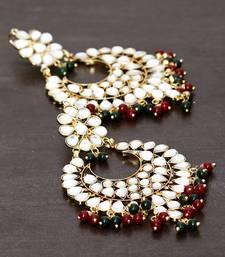 Buy Beads and Kundan Embellished Earrings 217ED26 danglers-drop online