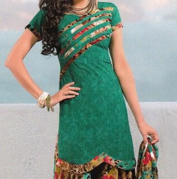 Dress material crepe unstitched patiala salwar kameez suit d.no 6160