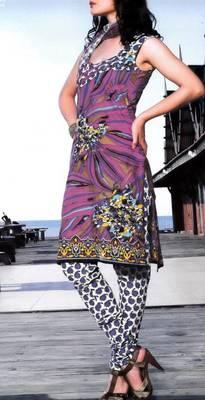 Cotton Dress Material With Chiffon Dupatta Unstitched Suit D.No 2544