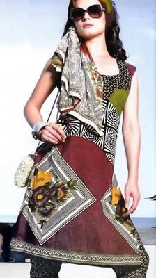Cotton Dress Material With Chiffon Dupatta Unstitched Suit D.No 2547