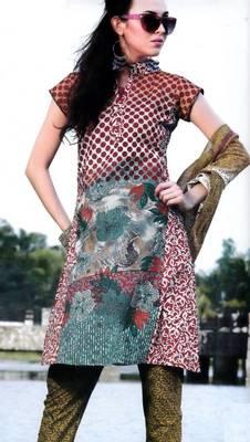 Cotton Dress Material With Chiffon Dupatta Unstitched Suit D.No 2555